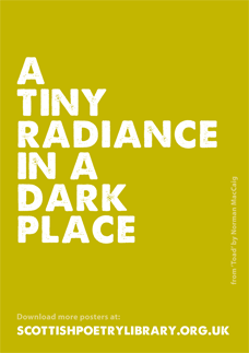SPL Poster Tiny Radiance Norman MacCaig_0