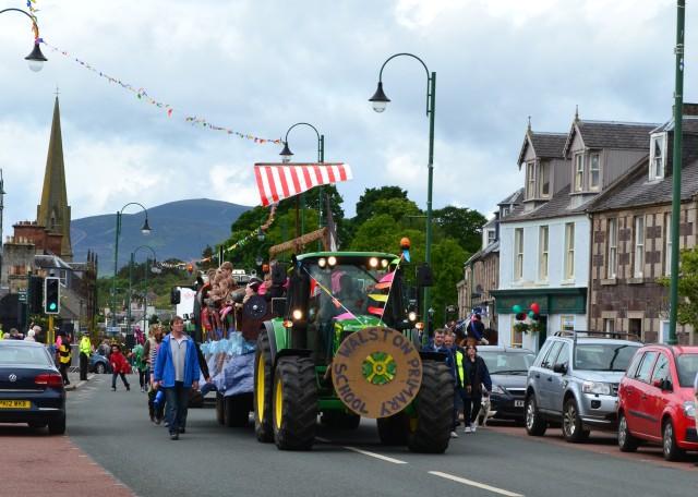 Biggar Village Fete Parade tractor