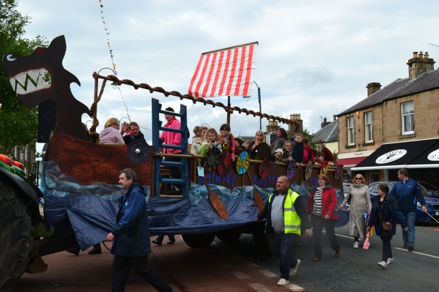 Biggar Village Fete Parade viking boat