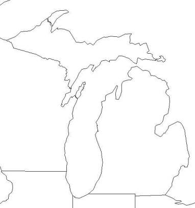 michigan outline